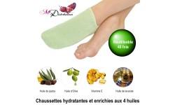 Chaussettes hydratantes aux 4 huiles Vert