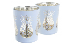 LOT DE 2 PORTE BOUGIES ANANAS